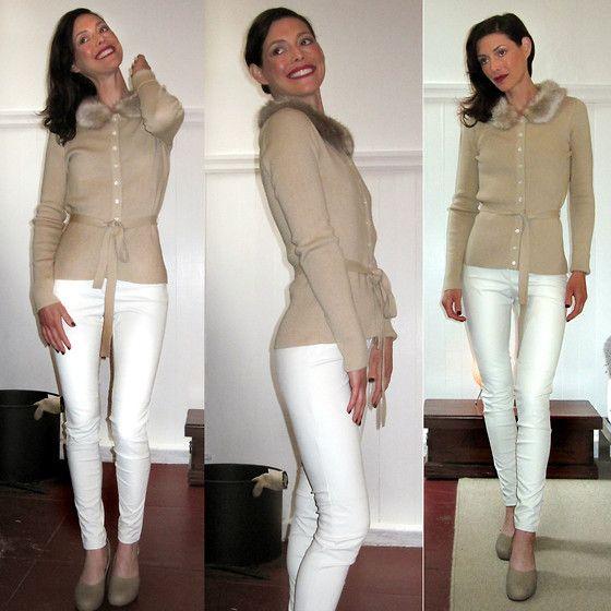 Winter White Skinny Jeans - Xtellar Jeans