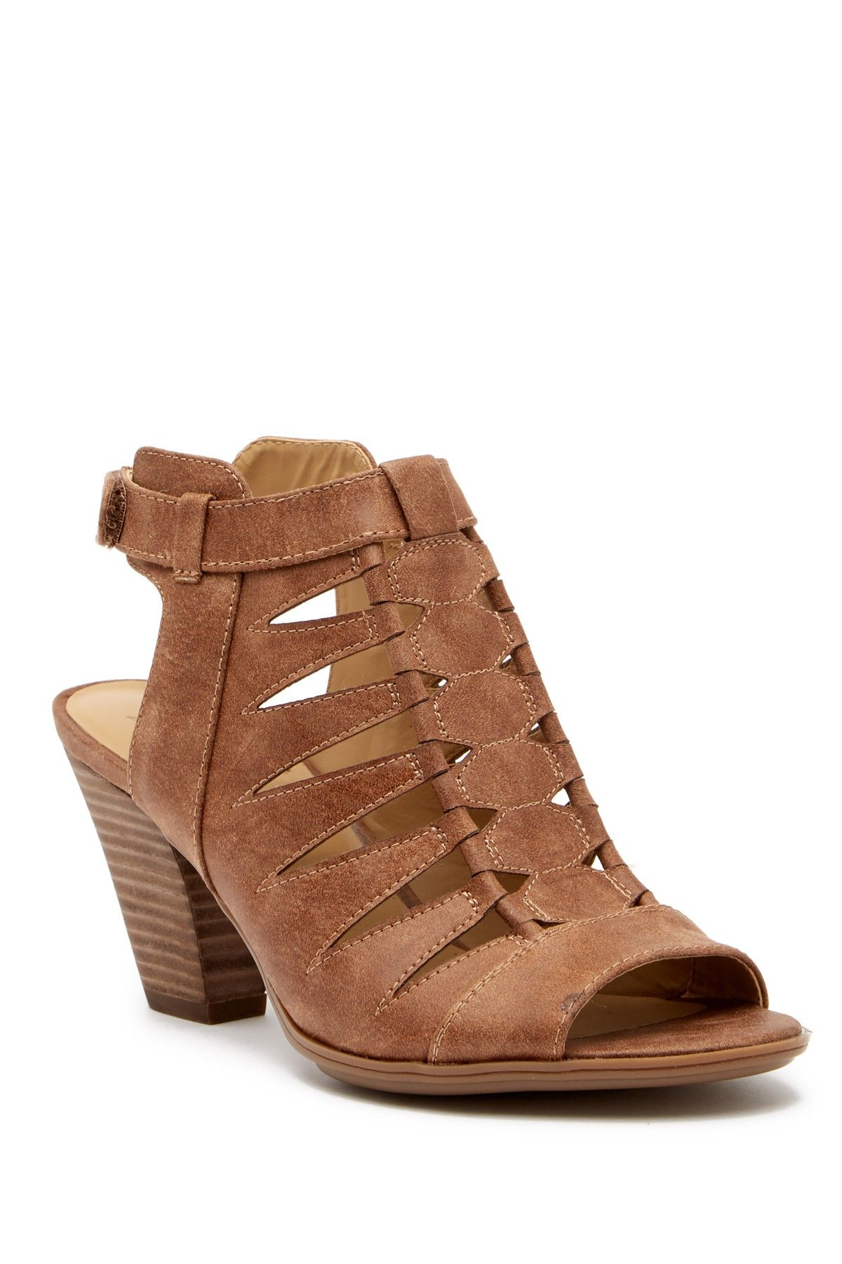 04d70f324009 Naturalizer Talan Cutout Stacked Heel Sandal in Latte