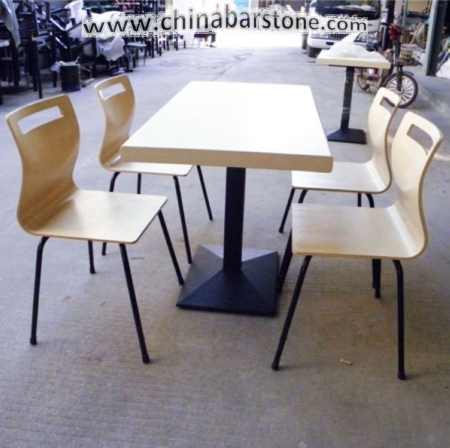 Beautiful And Modern Outdoor Fast Food Restaurant Tables And