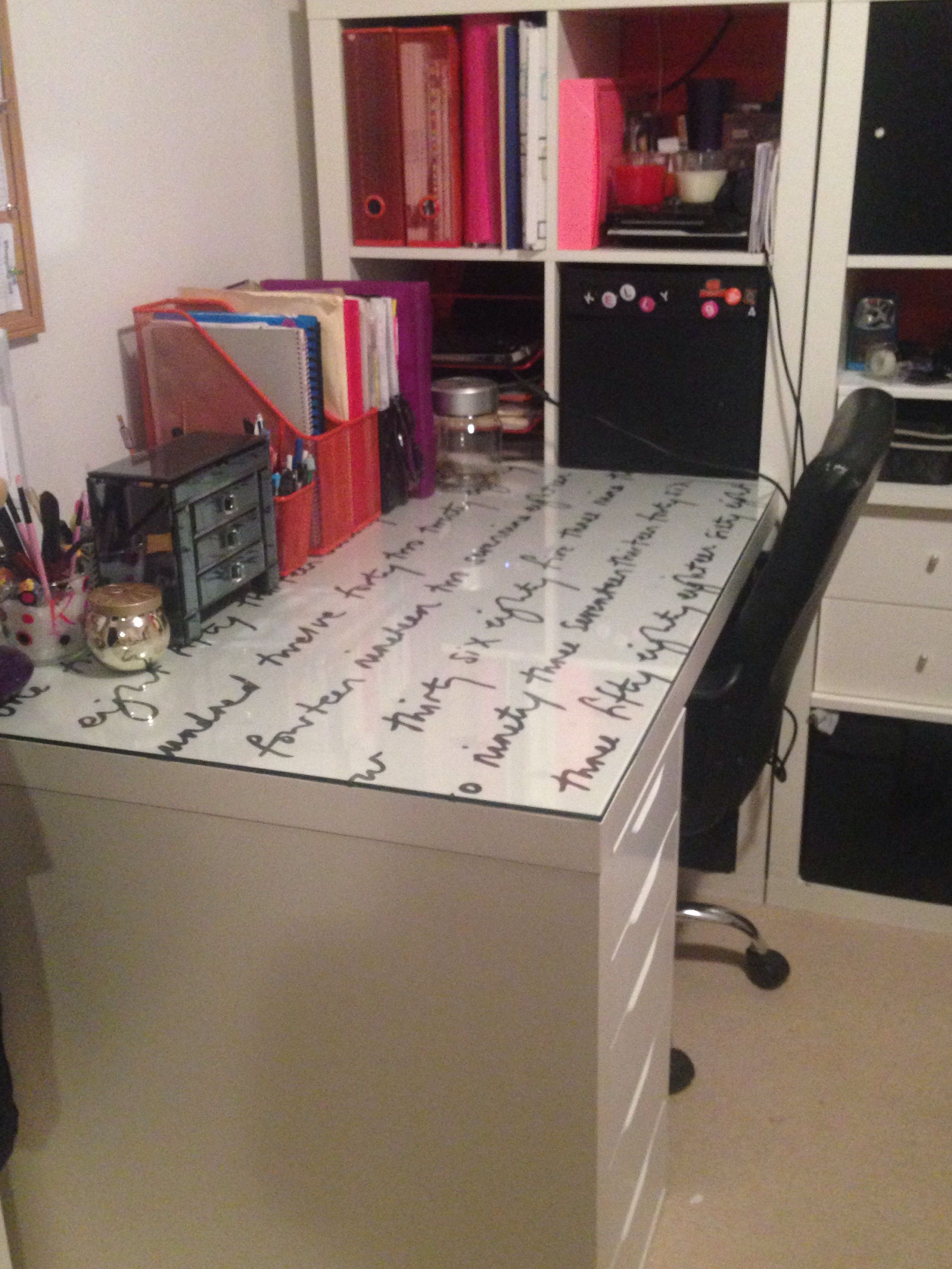 Material Under Glass For Desk Covering Desk Cover Apartment