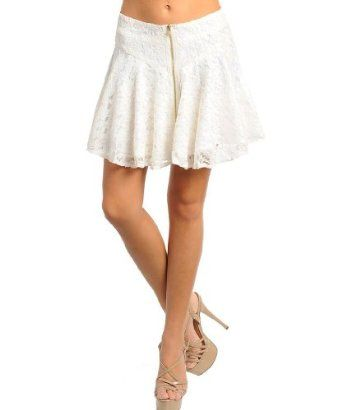 Feelib Zipper Front Lace Skirt Small Ivory Feellib. $12.00