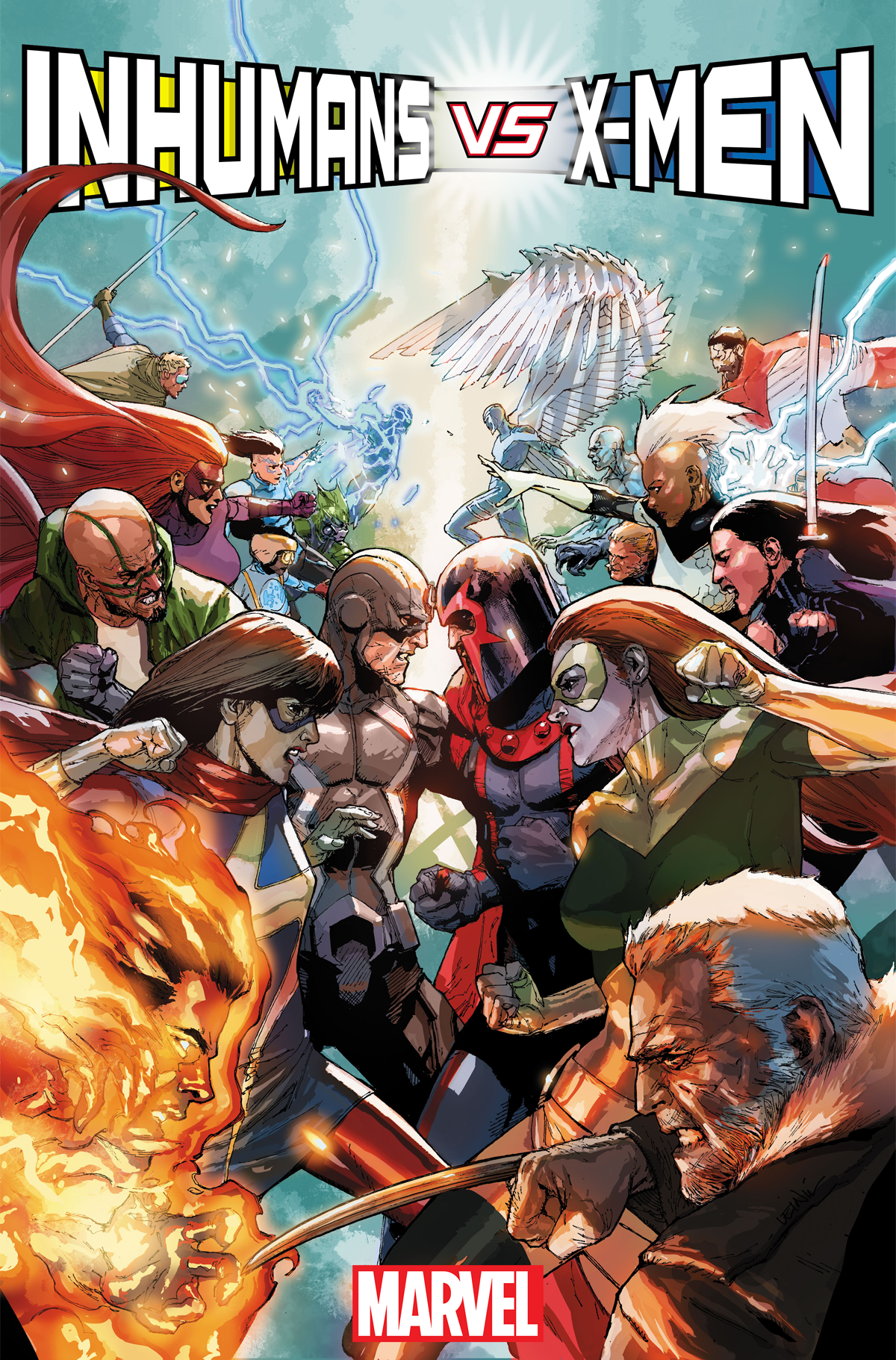 The Inhumans And X Men Are Finally Going To War Marvel Inhumans Marvel Comics Comics