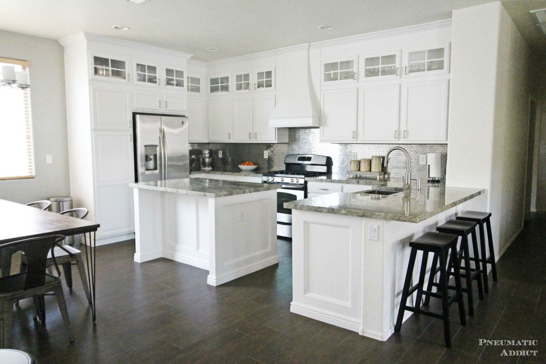 Diy Stacked Cabinet Kitchen Makeover Diy Kitchen Remodel White Kitchen Makeover Kitchen Makeover