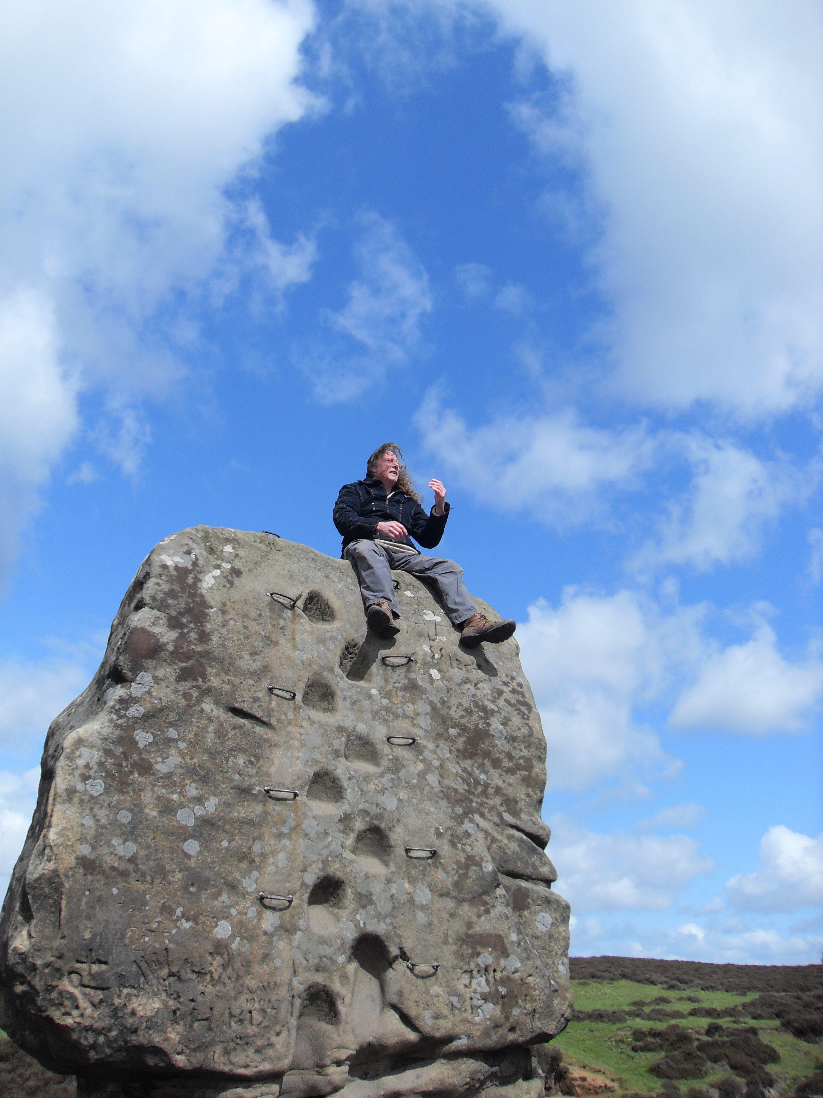 The Cork Stone, Stanton Moor near Matlock Derbyshire