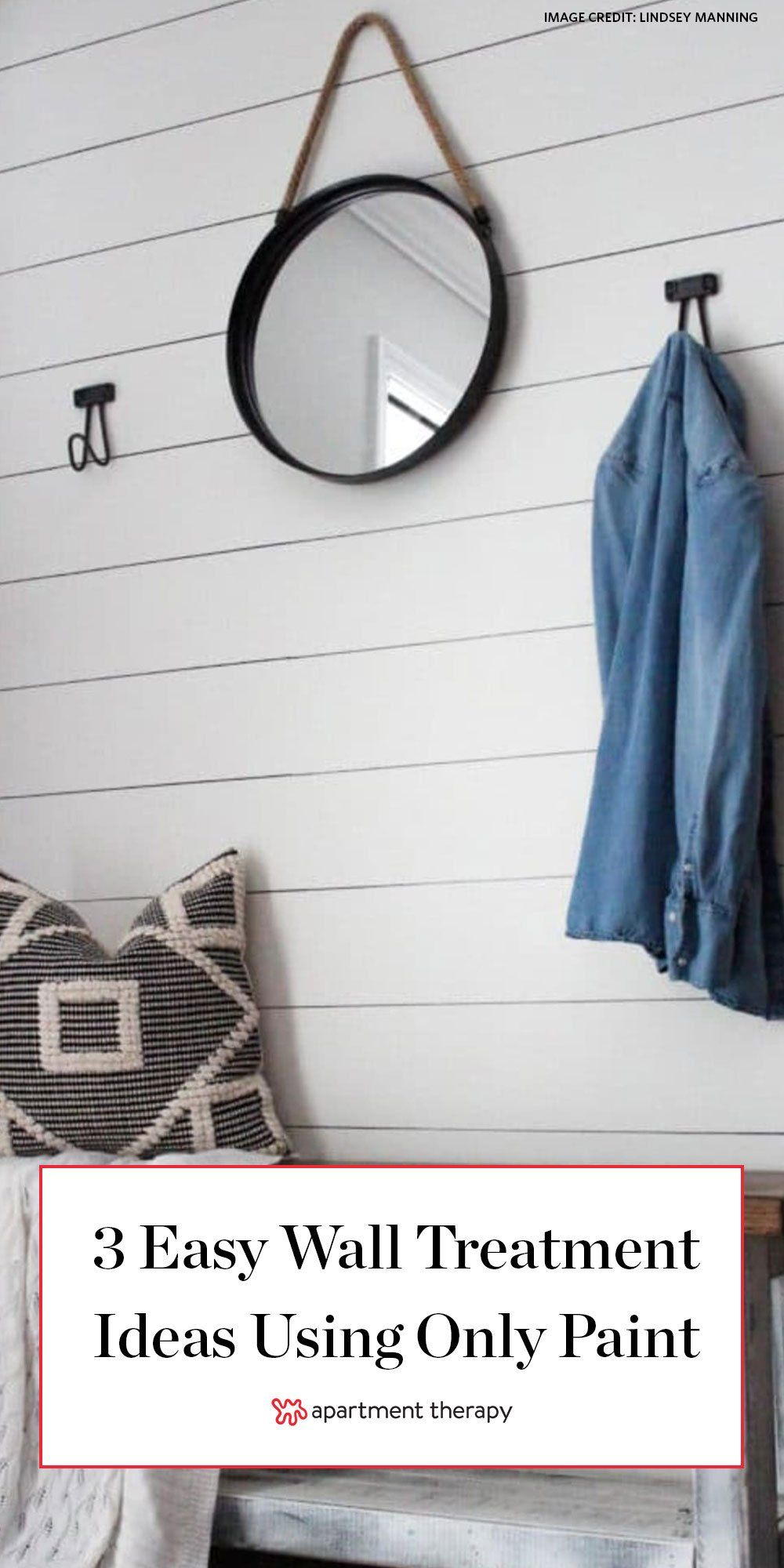 The Secret To Easy Faux Shiplap Plus 3 Other Paint Only Projects Faux Painting Walls Wall Treatments Faux Shiplap