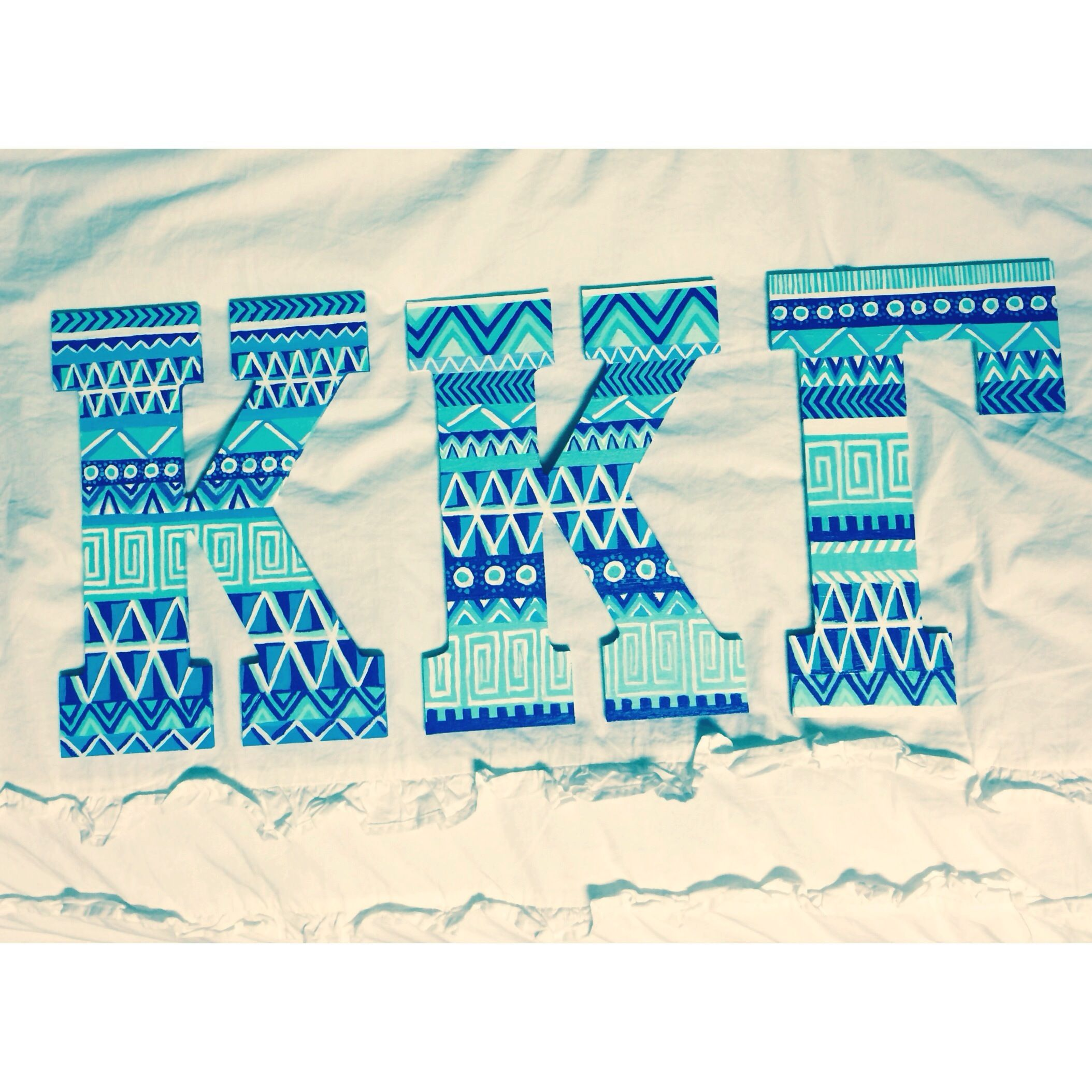 painted sorority letters #krafty #kappa | You Had Me At A- Chi- O | P ...