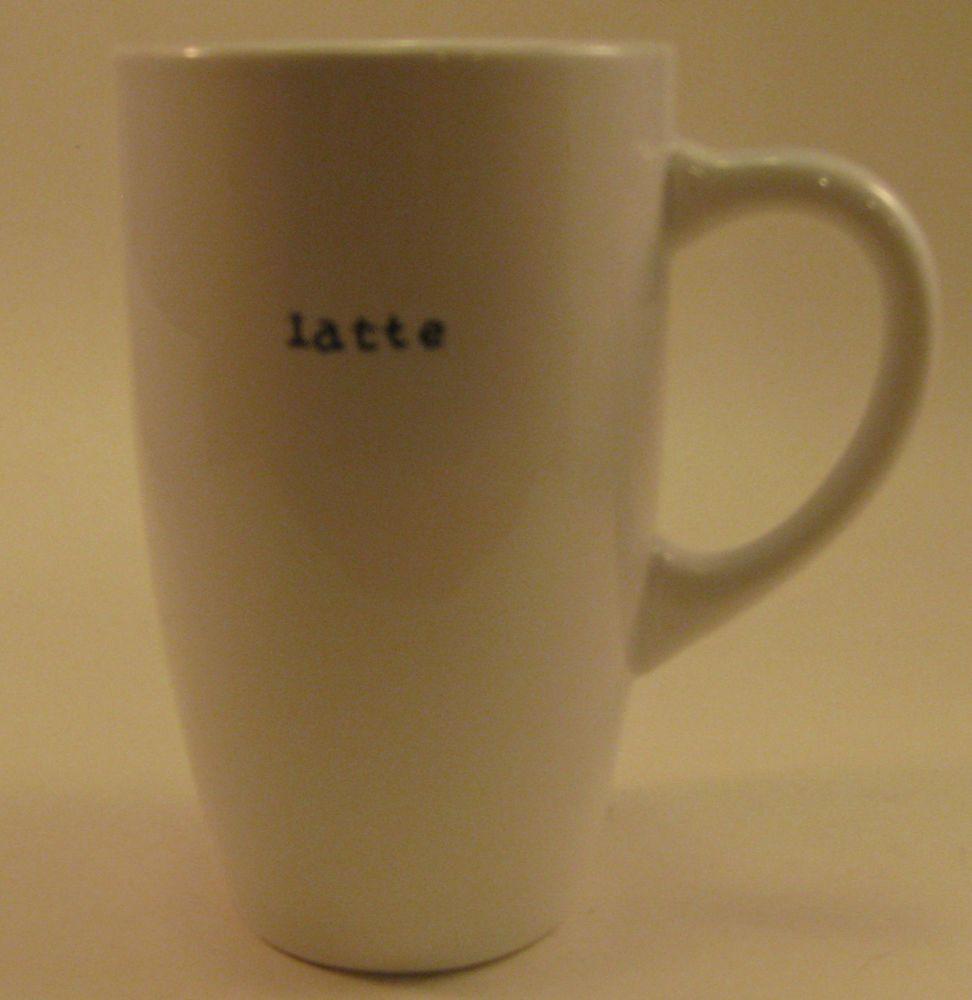 Pottery Barn Latte Tall White Coffe Mug X-Large!