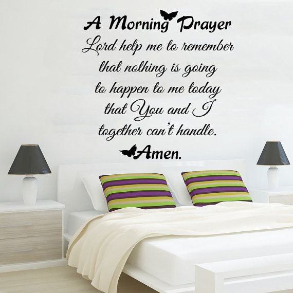 Family Wall Decal Quote Morning Prayer Art Murals Vinyl Stickers
