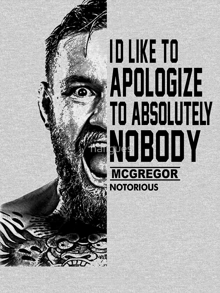 Conor Mcgregor Half Face Quote Pullover Hoodie By Haligues Redbubble Half Face Quotes Face Quotes Conor Mcgregor Quotes