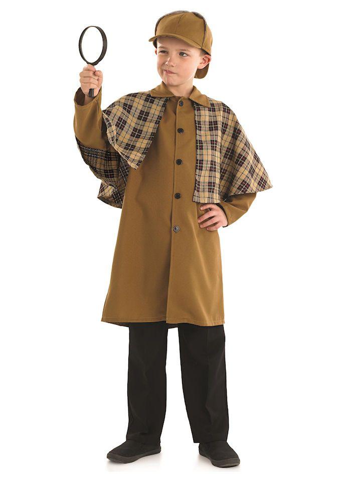 Sherlock Holmes Boys Childrens Victorian Police Fancy Dress Costume Book Day