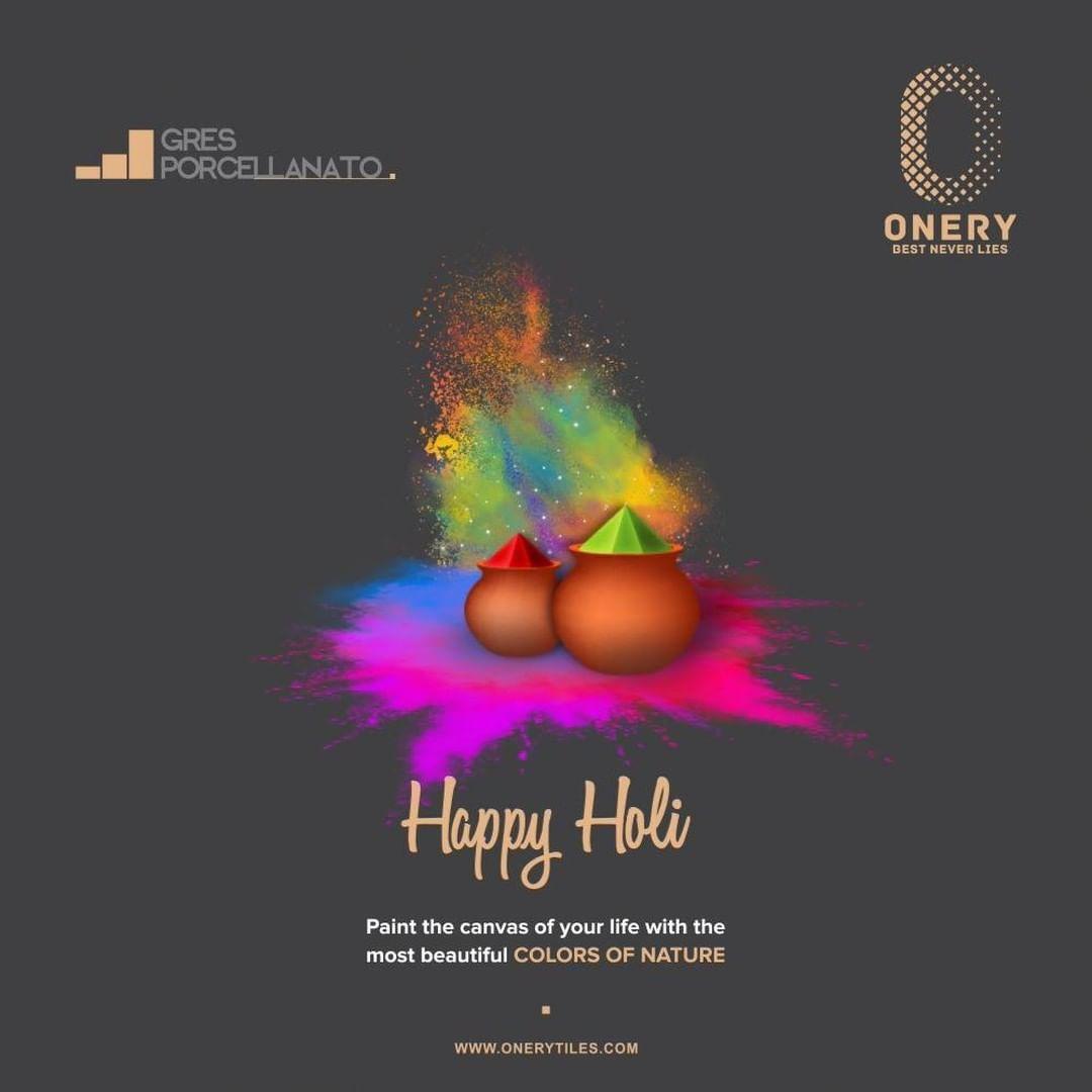 Onery tiles wishing you Holika dahan and Happy Holi.  #Holi_Festival  #holikadahan #festivalofcolors#color #holifestivalofcolours #holifest #indianfestival #colour #OneryTiles #GresPorcellanato  #Porcelaintiles