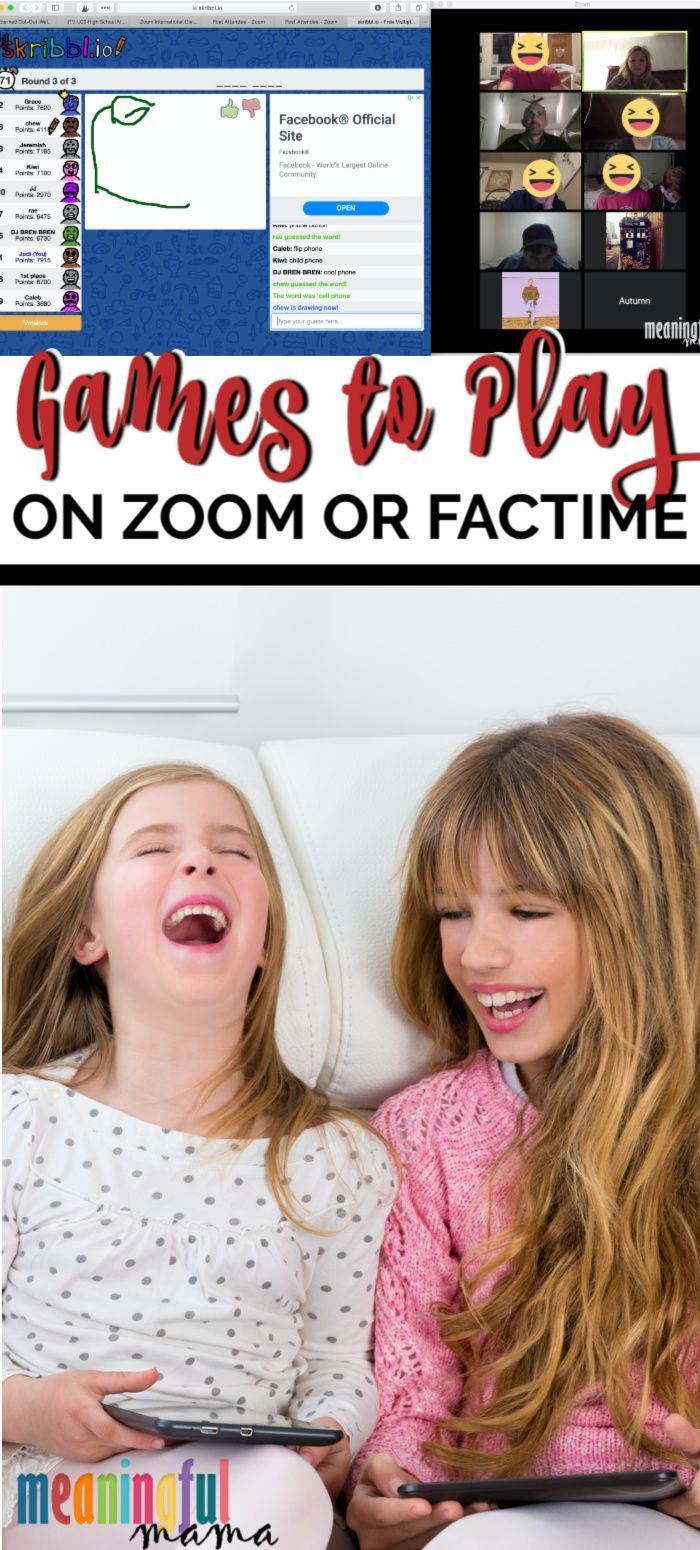 Fun Games to Play over Zoom or FaceTime Virtual games