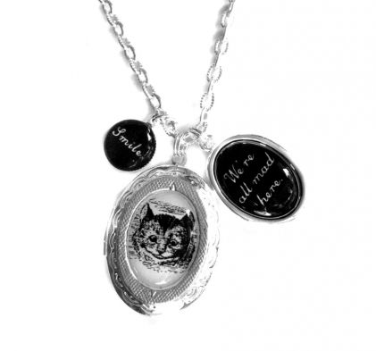 cat vinstyledesigns gray lockets necklace pin by cameo locket