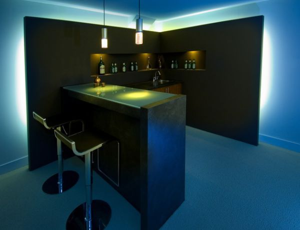 Bar Design Ideas For Home space saving home bar design 40 Inspirational Home Bar Design Ideas For A Stylish Modern Home