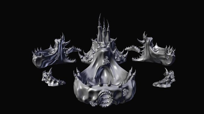 Tyranid Citadel Printable Scenery Set | 3D Print Model | 3D Models