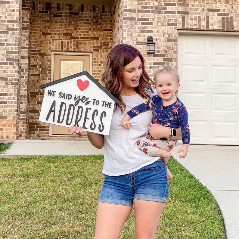 We Said Yes To The Address | Realtor sign | Home F