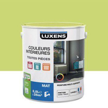 Peinture Vert Pistache 5 LUXENS Couleurs Intérieures Mat 2.5 L | Leroy  Merlin