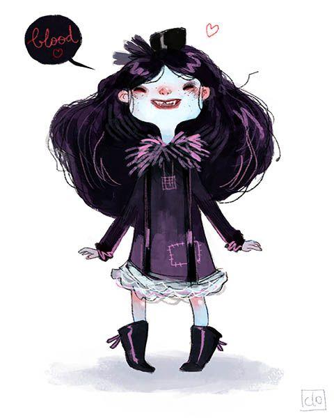 Character Design Challenge Vampire : Aurélie neyret illustration vampire kid character design