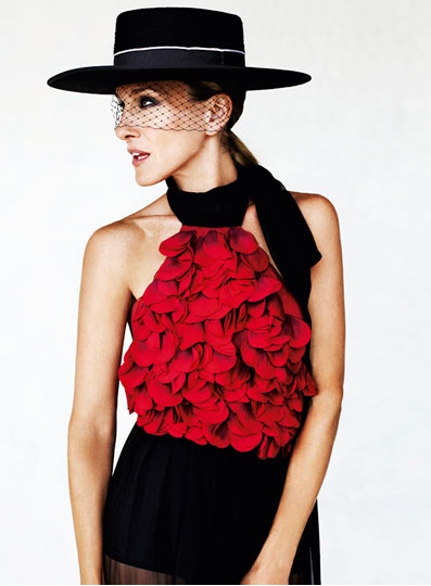 Sarah Jessica Parker in a spanish Sombrero Cordobe hat with veil. The sombrero cordobés is a traditional hat made in the city of Córdoba, Spain and traditionally worn in a large part of Andalusia.