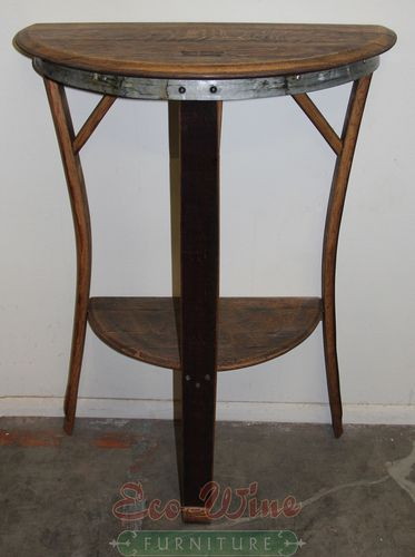 Wine Barrel Half Moon Table Tall Half Moon Table Wine Barrel Table