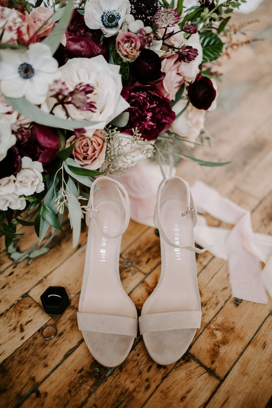 Minimalist Industrial Winter Wedding with Blush and