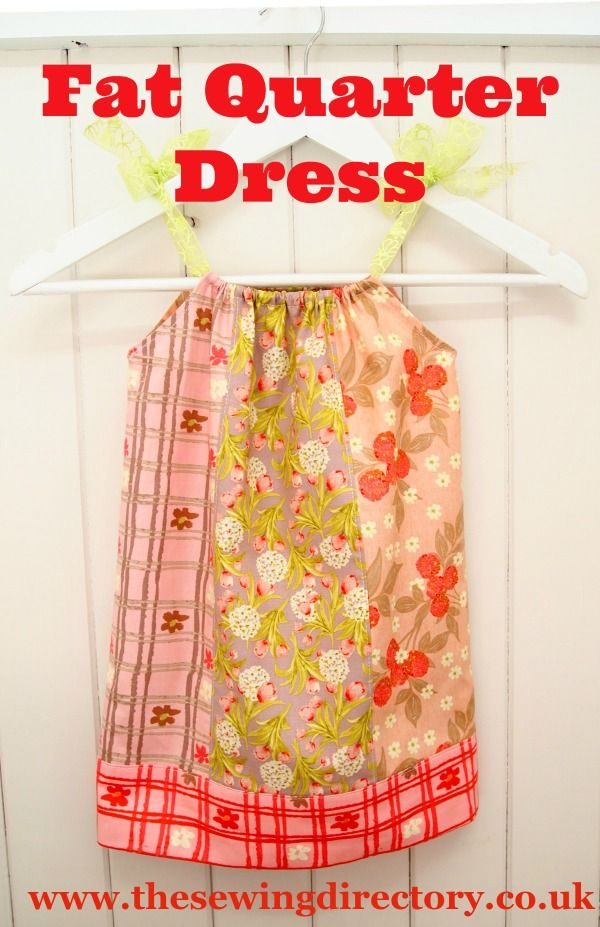 f5ff2eba6 Little girl s dress sewing project made from fat quarters