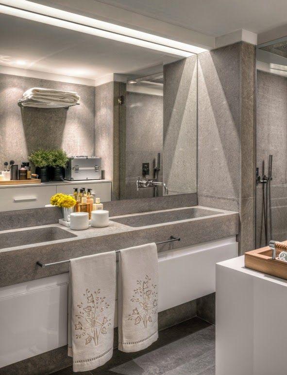 Ba o con mueble lavamanos doble project jamaica for Mueble de bano doble lavabo de madera