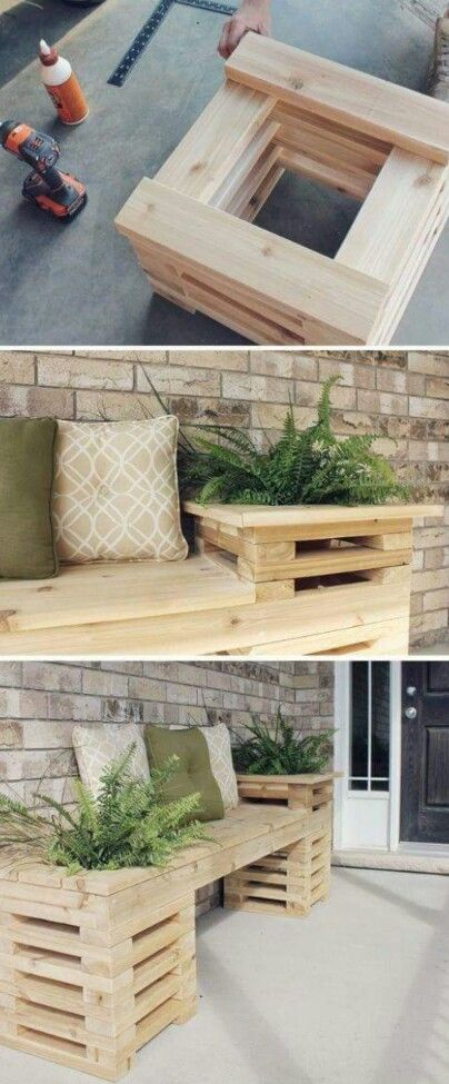 DIY outdoors bench on a budget..