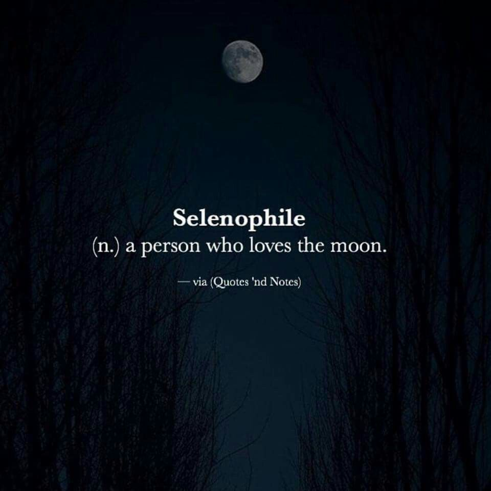 Selenophile (n.) A Person Who Loves The Moon. Image Via