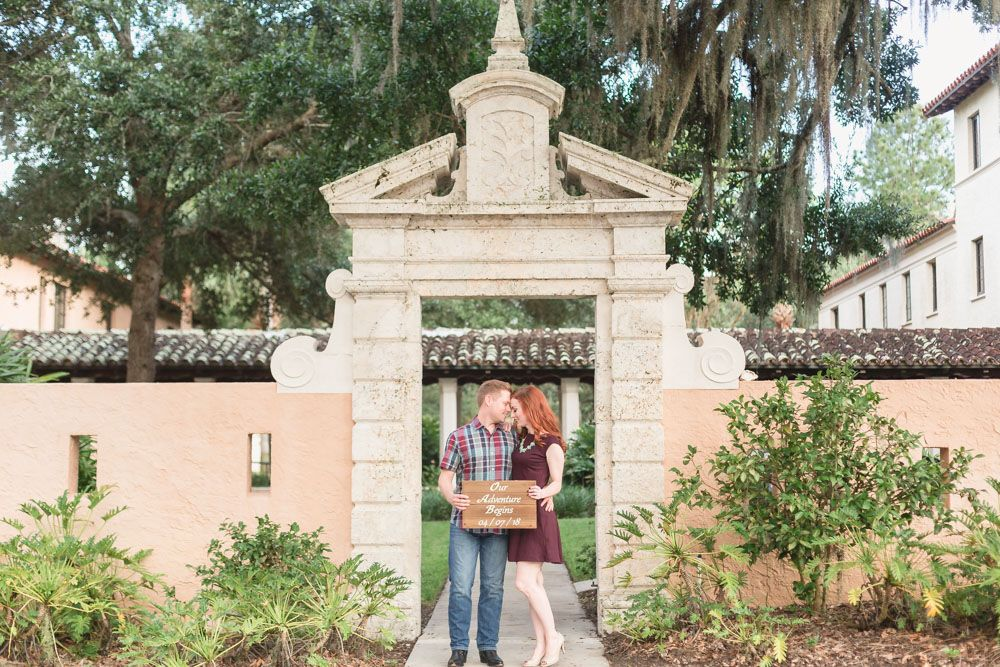 Engagement Photography Session At Rollins College Campus In Winter Park Florida Best Wedding Photographers Orlando Wedding Photographer Engagement Photographer