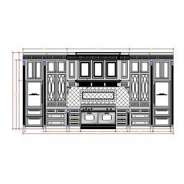 Custom Kitchen Design Cad Dwg  Furniture Cad Blocks  Cad New Autocad For Kitchen Design Design Decoration