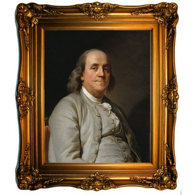 Historic Art Gallery 'Benjamin Franklin 1785' by Joseph-Siffrein Duplessis Framed Painting Print Size: