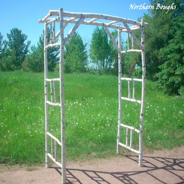 Rustic Wedding Altar Ideas: Deluxe Birch Wedding Arch/Arbor Kit