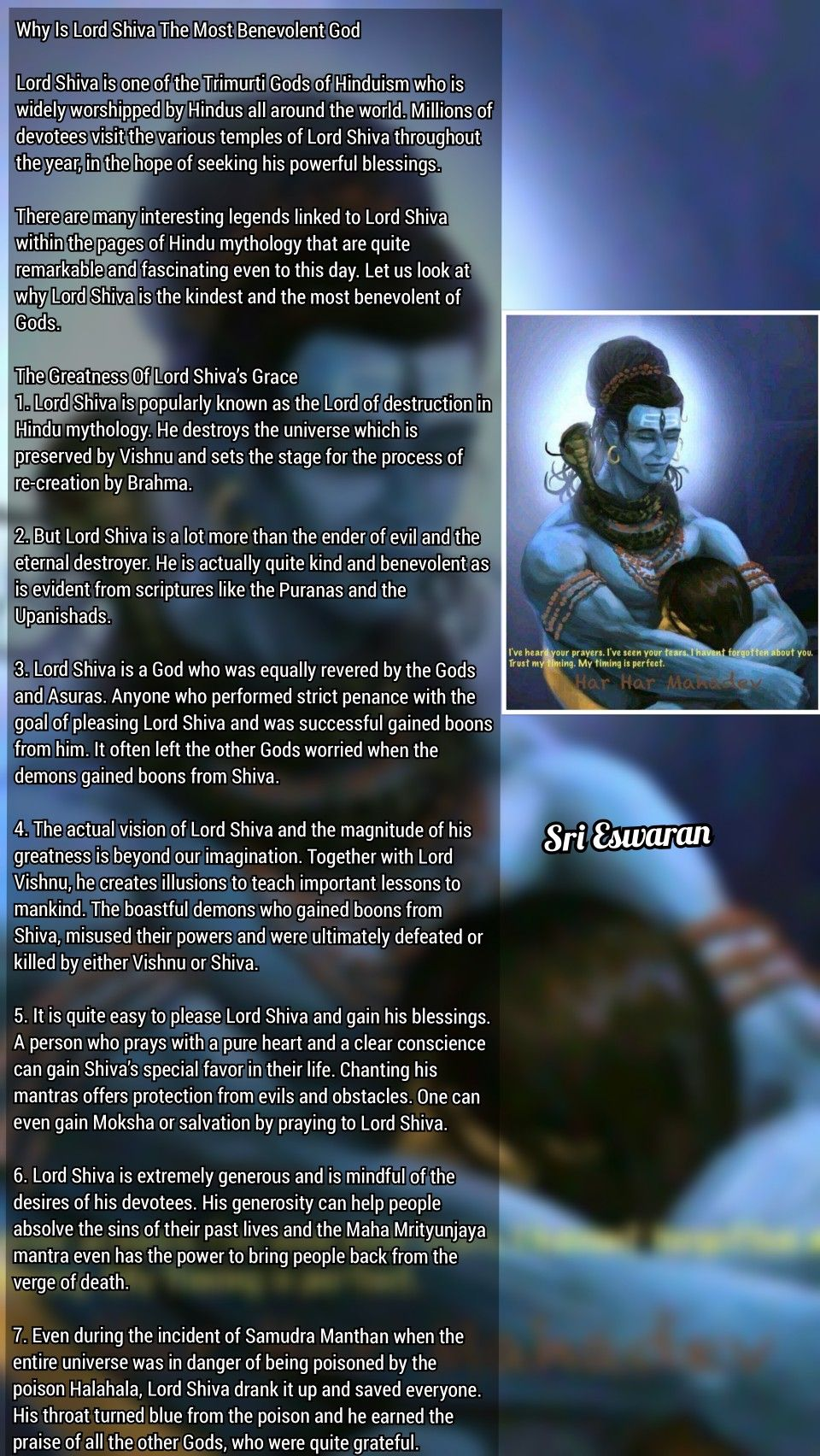 Why Is Lord Shiva The Most Benevolent God Lord Shiva is one of the