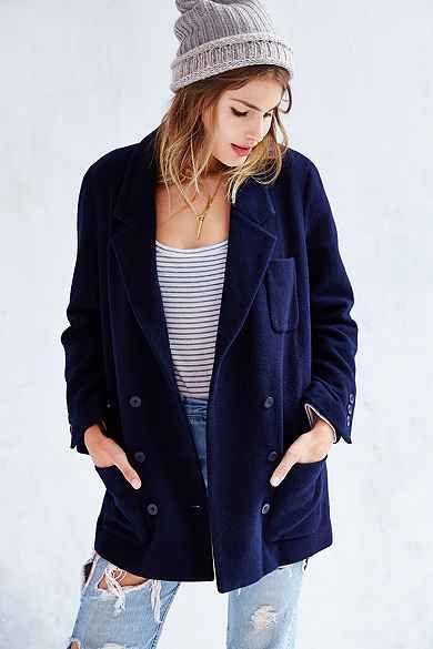 BDG Mid-Thigh Blazer Coat