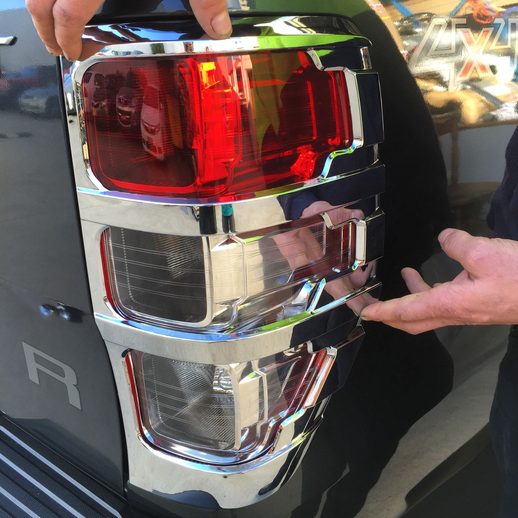 Ranger Px Chrome Plated Rear Tail Light Cover Cose