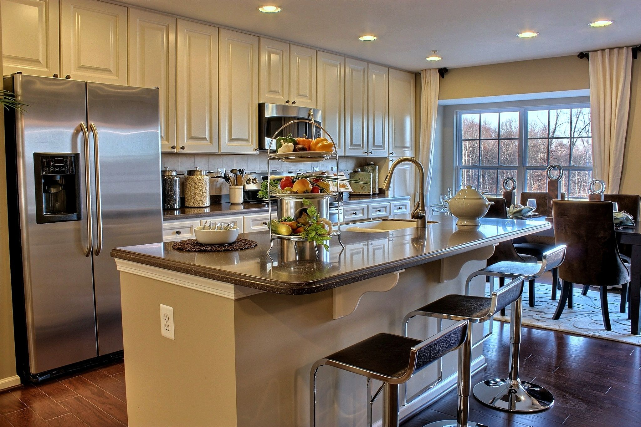 Prime A Chic And Calming Kitchen In The Garrett Model By Ryland Interior Design Ideas Clesiryabchikinfo