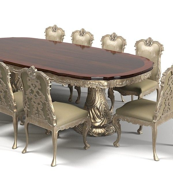 Jumbo dining table chair stool set classic baroque wood carving carved  luxury rococo Model available on Turbo Squid  the world s leading provider  of digital. Gorgeous Dining Room Table Design   Home Slice   Pinterest