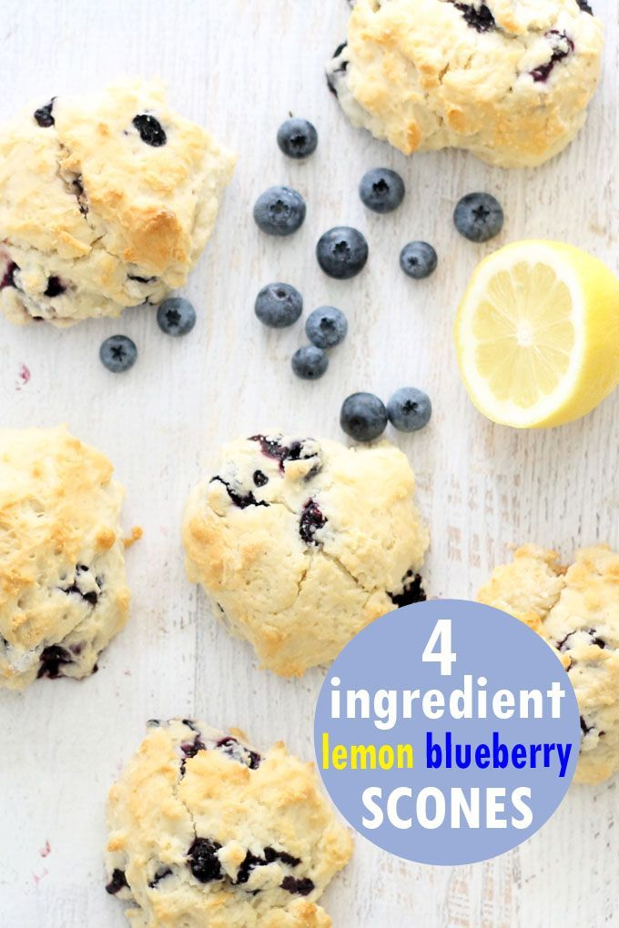 lemon blueberry scones, only 4 ingredients! A copycat Starbucks recipe images
