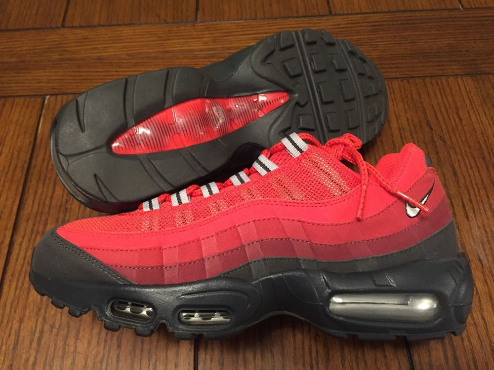 buy popular 445c6 37418 Nike Air Max  95 Dark Ash Metallic Silver Team Red Gym Red 609048 202 Size  9   eBay