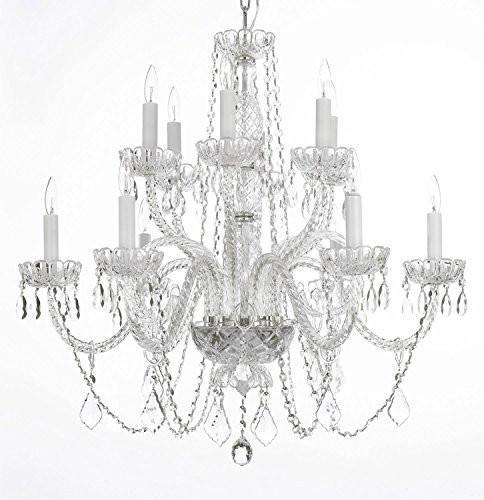 Swarovski Crystal Trimmed Chandelier Lighting Chandeliers H27 X W32 Go