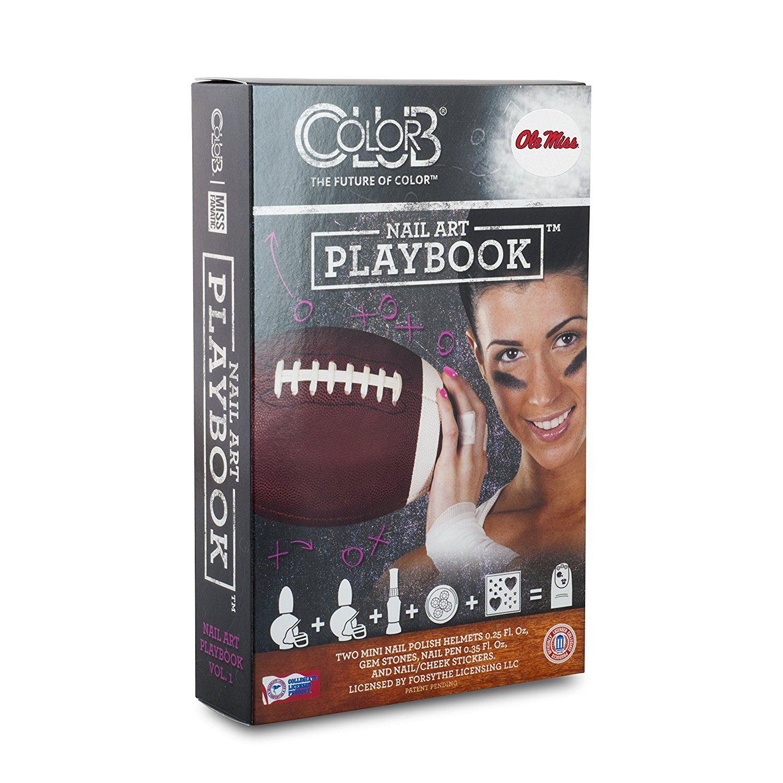 OLE MISS REBELS PLAYBOOK NAIL ART KIT-UNIVERSITY OF MISSISSIPPI NAIL ...