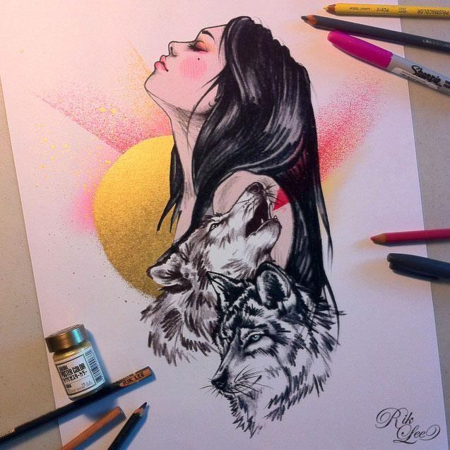Las Caras Bonitas De Rik Lee Dibujos De Tatuaje De Buho Produccion Artistica Como Dibujar Cosas
