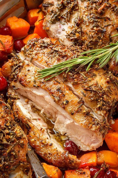 Photo of Garlic-Herb Butter Roasted Turkey Thighs