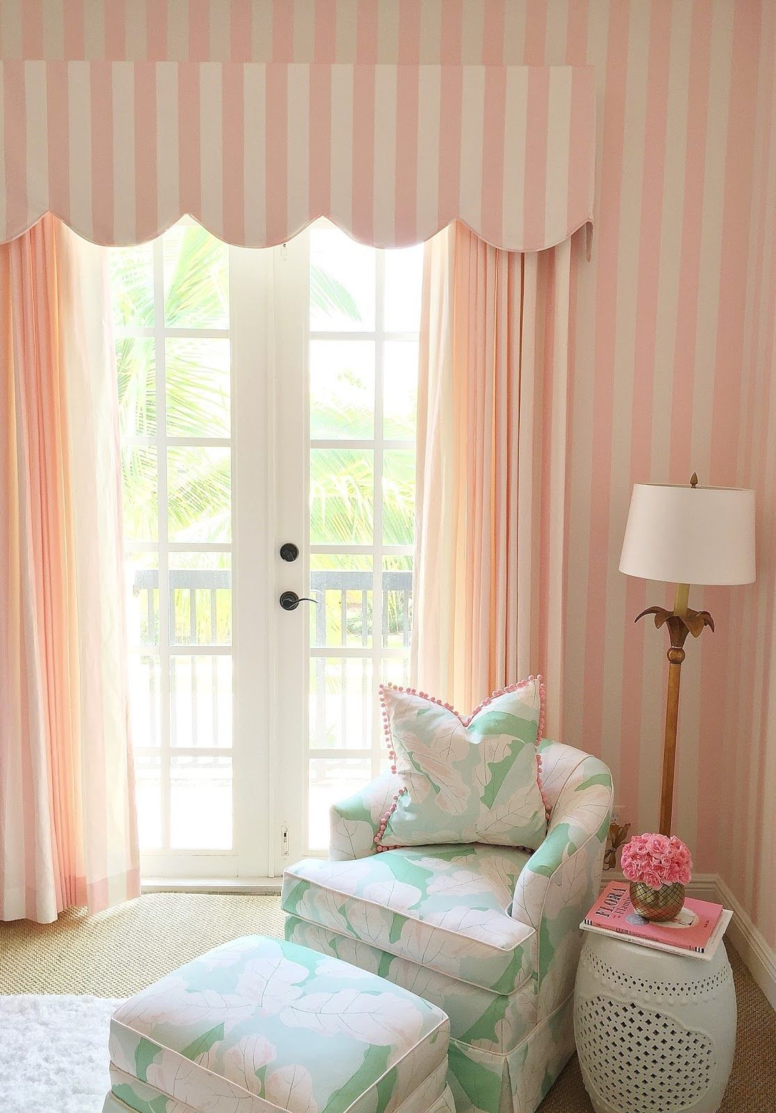 A Glamorous Pink and Green Nursery Inspired by the Beverly