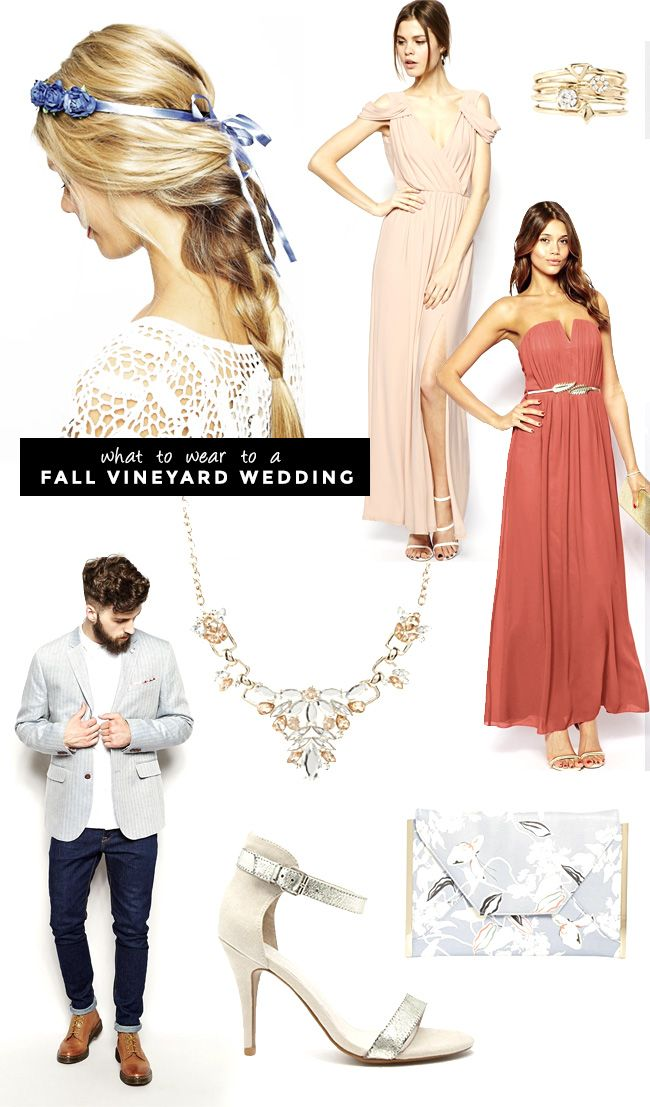 What to wear for guests attending a fall wedding wedding for Vineyard wedding dresses for guests