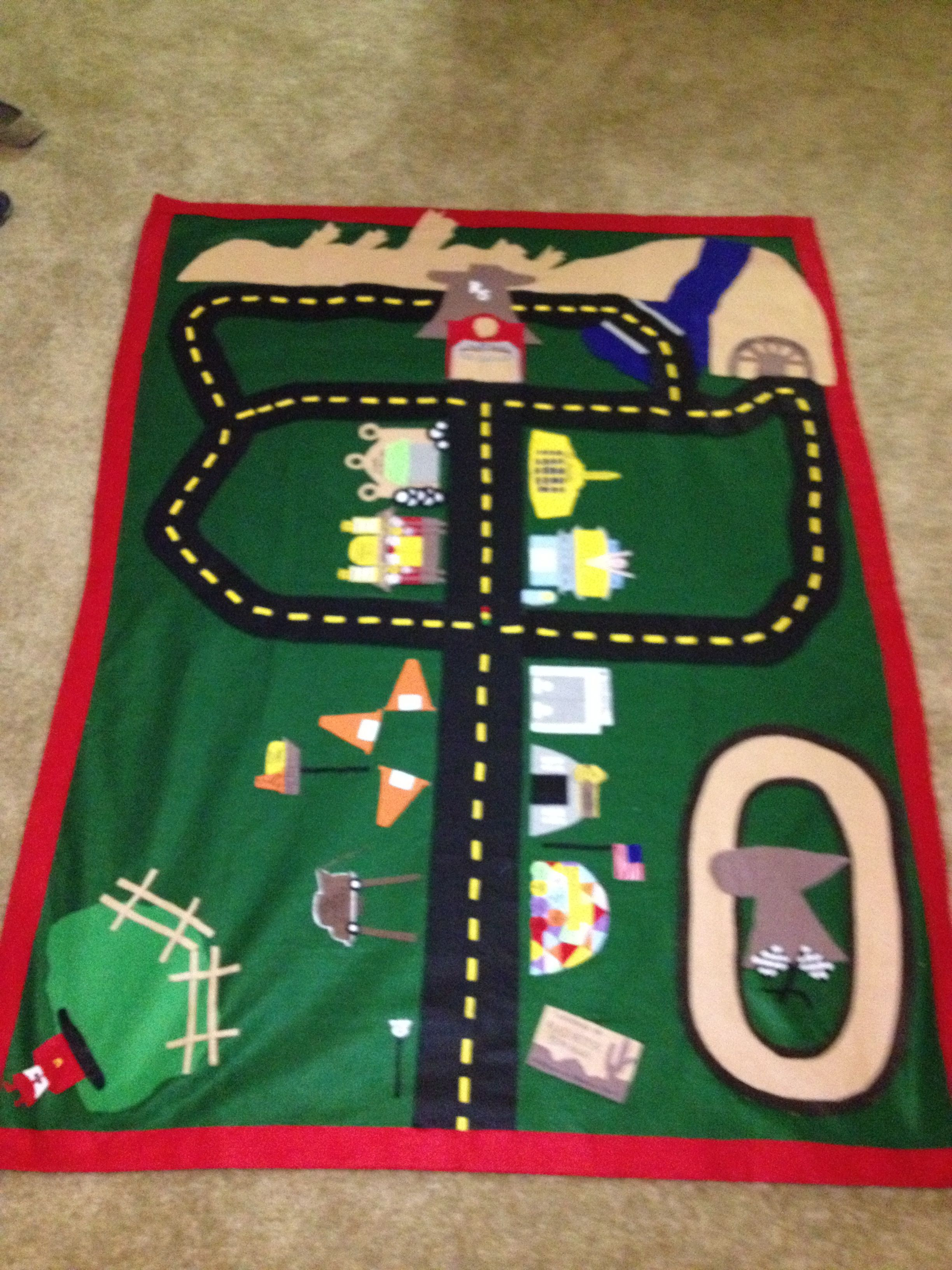 I made a Radiator Springs Cars Mat for my son! Made it all out of ...
