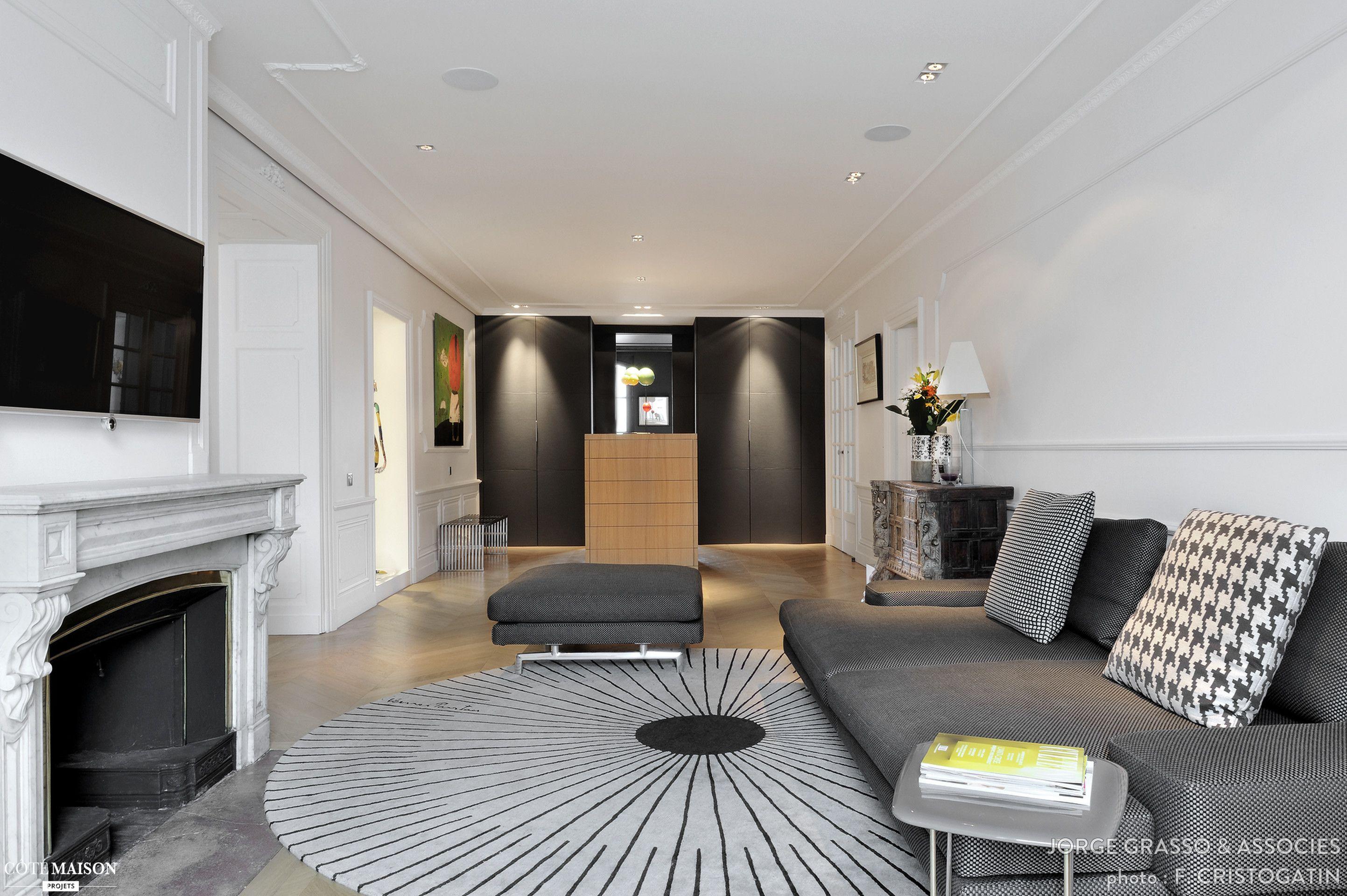 appartement haussmannien quai de sa ne lyon jorge grasso. Black Bedroom Furniture Sets. Home Design Ideas