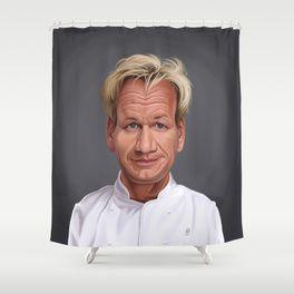 Celebrity Sunday Gordon Ramsey Shower Curtain