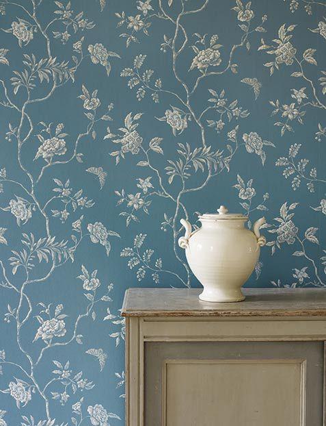 tapete mit floralen motiven von colefax fowler britisch englisch colefax. Black Bedroom Furniture Sets. Home Design Ideas